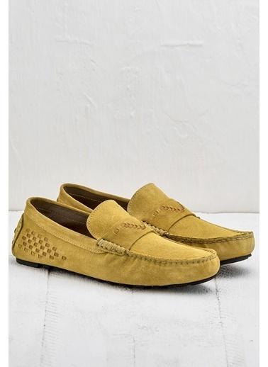 Elle %100 Deri Loafer Ayakkabı Sarı